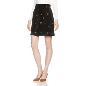 [アースミュージックアンドエコロジー] 花柄刺繍ベロアスカート 10173L00000 レディース Black 日本 S-(日本サイズS相当)