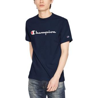 [チャンピオン] スクリプトロゴTシャツ ベーシック C3-P302 メンズ ネイビー 日本 XL (日本サイズXL相当)