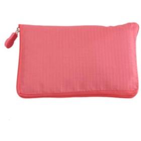エコバッグ ショッピングバッグ チャック 買い物袋 防水トートバッグ オックスフォード 折りたたみ 大容量 単色 桃色