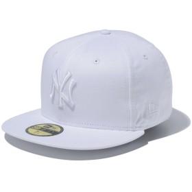 【メーカー取次】 NEW ERA ニューエラ 59FIFTY MLB NY ホワイトXホワイト 11308530 キャップ(ホワイトXホワイト 表記7 3/8)