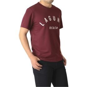 (ラフルーレ) RAFFRULE M15 半袖 tシャツ メンズ カットソー 吸汗 速乾 ドライ ストレッチ アメカジ ロゴ サーフ プリント スポーツ RQ0833 M I2-ワイン