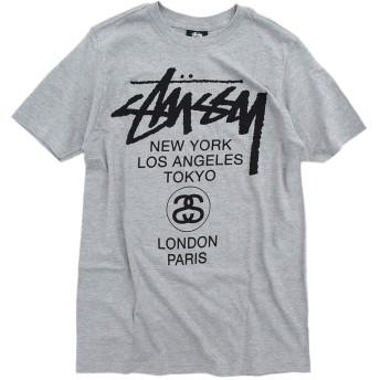 [ステューシー] Tシャツ 半袖 レディース WOMEN World Tour 限定 サイズS グレー [並行輸入品]