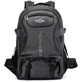 登山バッグ リュック バックパック65L 大容量 防水 アウトドア 防災 災害 旅行 キャンプ 登山リュックバッグ スポーツ ハイキング 男女兼用 (グレー)