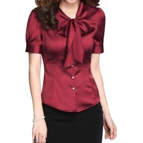 WAYA- 2018年の新しい女性の半袖プロの大きなサイズのシャツ女性スリムな蝶のシャツ 1 4XL