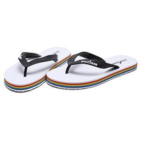 [XINXIKEJI] ペアサンダル ビーチサンダル トングサンダル メンズ レディース おしゃれ 大きいサイズ 24.5~27.0cm EVA 夏用靴 滑り止め 耐磨 痛くない 疲れない 履きやすい 普段履き 海 海水浴 プール ホワイト L