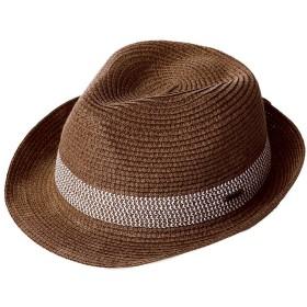 麦わら 帽子 ハット メンズ 夏用 中折れハット ストローハット 紳士帽子 パナマハット パナマ帽 55 56 57cm コーヒー
