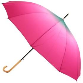 彩虹傘 長傘 ピンク 桜の柄浮き出る傘 3(スリー)レインボー不思議傘 12本骨 55cm 虹色 rainbow 浮き絵 YS-033-1