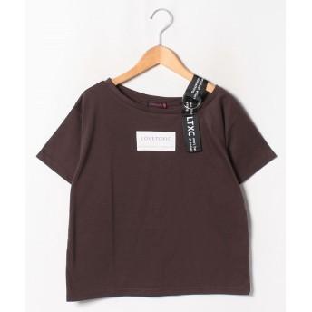 【36%OFF】 ラブトキシック ワンショルダーBOXロゴTシャツ レディース ブラウン 160 【Lovetoxic】 【タイムセール開催中】