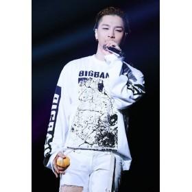 BIGBANG/G-Dragon/出演服/韓国スター/ビッグバン/韓流グッズ 長袖 T シャツ (M, 白)