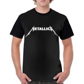 最新のファッション通気性 メンズ Tシャツ半袖シャツ3D印刷 Metallica 夏の流れの男性の半袖tシャツ