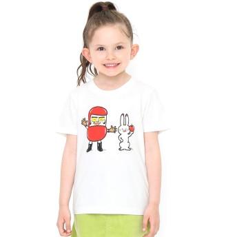 (グラニフ) graniph コラボレーション キッズ Tシャツ だるまちゃん と うさぎちゃん (かこさとし) (ホワイト) キッズ 90 (g28) #おそろいコーデ