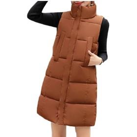 Qiangjinjiu 女性の綿パッド厚された上着コートロングダウンパフベストジャケット 2 L