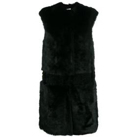 Desa 1972 textured sleeveless coat - ブラック