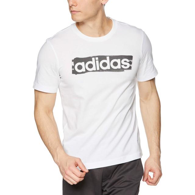 [アディダス] トレーニングウェア CORE リニアグラフィックTシャツ [メンズ] FSR29 ホワイト (DV3050) 日本 J/M (日本サイズM相当)