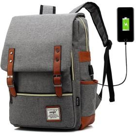 SiMYEER スクエア バックパック USBポート 多機能 リュック 大容量 ユニセックス
