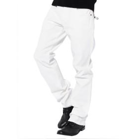 ホワイト LL (ベストマート)BestMart ゆったり ストレッチ カツラギ チノパン バックジップ 大きいサイズ 4L 5L 6L 7L ストレッチ メンズ カラー パンツ ロング ジップポケット ワイド パンツ オーバーサイズ LL XXL XXXL XXXXL 2L 3L 620020-007-201