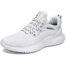 [Orktree] スニーカー メンズ 軽量 通気 メッシュ カジュアル クッション スポーツ ランニング 日常着用 通学 アウトドア ウォーキング 運動靴 ホワイト
