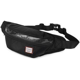 GoFar ウエストポーチ 大容量 ボディーバッグ 軽量 防水 ヒップバッグ 登山 旅行 ショルダーバッグ 4ポケット ランニングポーチ メンズ レディース (ブラック)
