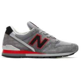 (ニューバランス) NEW BALANCE m996 color grey/black/red 10 grey/black/red (並行輸入品)