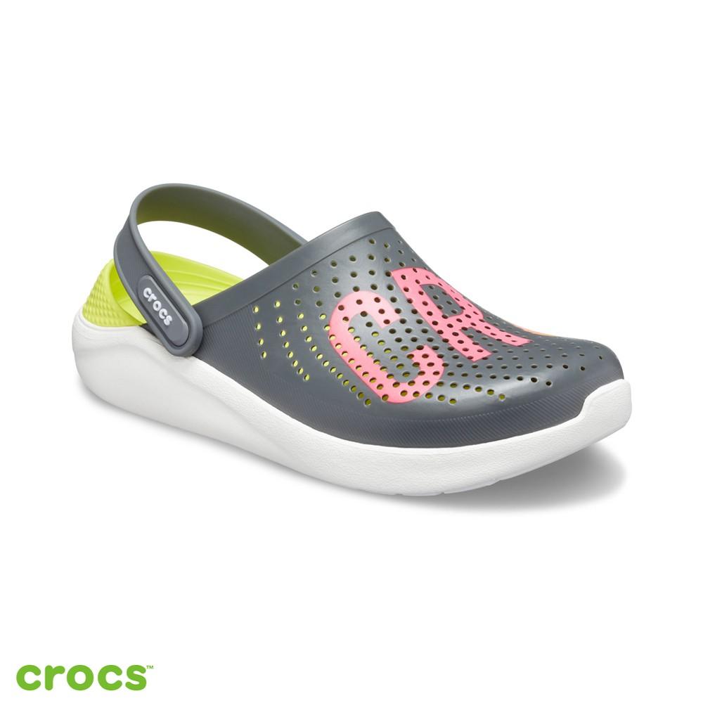 Crocs 卡駱馳 (中性鞋) LiteRide瘋狂LOGO克駱格-205893-04O