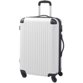 S型 ホワイト×ブラック / FK1212-1(POP・DO) 機内持込 スーツケース キャリーバッグ TSAロック搭載 超軽量