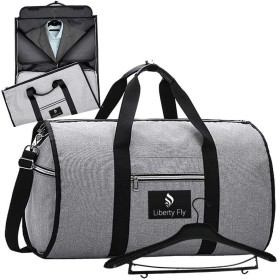 ガーメントバッグ ボストンバッグ メンズ 収納 大容量 2WAY スーツバッグ スーツ ワイシャツ 靴 ネクタイ 防水 型くずれ防止 シワ防止 折り畳み式 スポーツバッグ 一体型 ジムバッグ (ダークグレー)