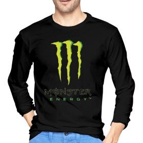 Monster Energy モンスターエナジー Tシャツ 長袖 メンズ ロングスリーブ 丸首 無地 綿 カジュアル ゆったり 薄手 4色 大きいサイズ