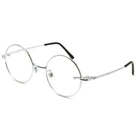 丸眼鏡 for JAPANESE SUNGLASS(ROUNDラウンドサングラスforジャパニーズ)(SILVER × CLEAR)