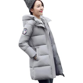 GuDeKeレディース 冬 アウター 軽量 ダウン ロング コート ダウン ジャケット 中綿 防寒 ゆったり フード付き 中綿 厚手 ダウンジャケット 大き目アウター 防風(グレー5.4.7)