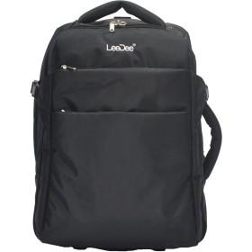【LeeDee】 2WAYキャリーバッグ キャスター付き、ネイビー、軽量、機内持ち込みサイズ