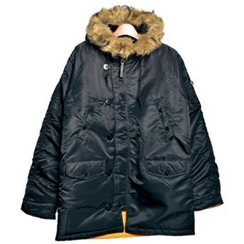 (アルファ インダストリーズ)ALPHA INDUSTRIES スリムフィット ジャケット N-3B MJN31210C1 メンズ 09.ブラック×ブラウン M [並行輸入品]