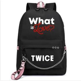 LiLing阿七 応援グッズ ファッション TWICE VIP USB 周辺 リュックサック ズック 韓国アイドル  バッグ (1#)