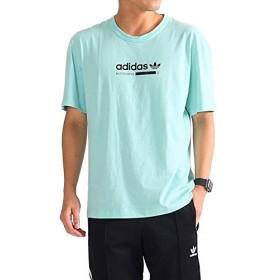 [アディダスオリジナルス] カバル ネオンカラー ロゴTシャツ DH4966 (メンズ レディース) M Mint(DH4966)
