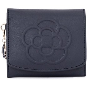 [クレイサス] 二つ折り財布 ワッフル レディース 185435 【84】ネイビー