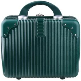 Genda 2Archer(JP) 男女兼用 ミニ スーツケース ハンドバッグ ビジネス 機内持ち込み 軽量 かわいい ABS トランクケース 化粧品収納 仕事 旅行 出張 14寸 8色 (グリーン)
