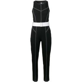Karl Lagerfeld ステッチ ジャンプスーツ - ブラック