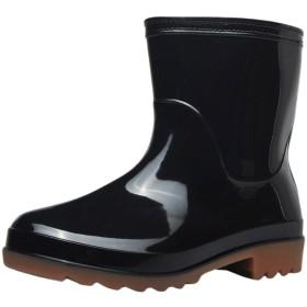 [カワアイ] レインブーツ メンズ ショート 安全靴 作業靴 レインシューズ 耐滑 耐油 防水 滑りにくい 雨 雪 晴れ兼用 歩きやすい 厨房 シェフ コック 作業 靴 安全 靴 コックシューズ 厨房シューズ 調理靴 キッチンシューズ 黒 梅雨対策 洗車用 ((FR43) 26.5cm, ブラック)