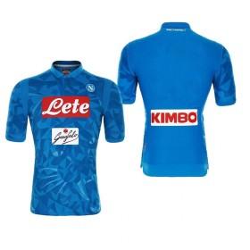 1819年度 Naples サッカーユニフォーム SSCナポリ ホーム ブルー 半袖 メンズ レプリカ 半袖 L