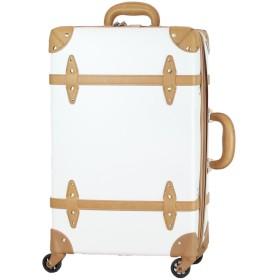 MOIERG(モアエルグ) キャリーバッグ 軽量 キャリーケース スーツケース 【81-55083-20】(M, シロ×ベージュ) 修学旅行