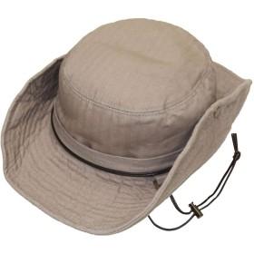 帽子【帽子】64センチ 超ビックサイズ ハット 64cmスクエアーリング (64㎝ グレージュ)