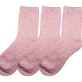 (マイプリンシパルズ) レディース あたたかい ソックス 冷えとり靴下 冷え性 靴下 22~25センチ 無地 (ピンク・3枚)