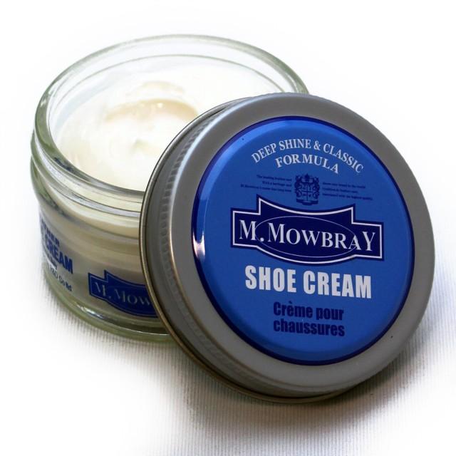 [銀座大賀靴工房] [エムモゥブレィ] M.MOWBRAY シュークリーム+ムートングローブクロス (ニュートラル)
