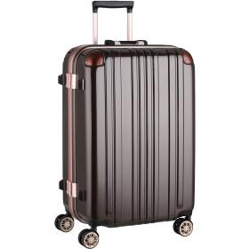 [レジェンドウォーカー]スーツケース キャリー アルミフレーム TSAロック Mサイズ(68リットル)5~7泊 モカ