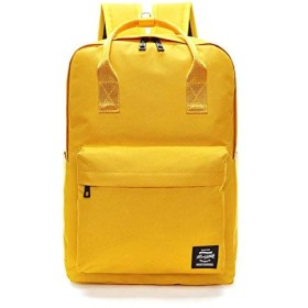 Jieway Unisex Classic Backpack Nylon Waterproof Travel Laptop School Bags (イエロー)