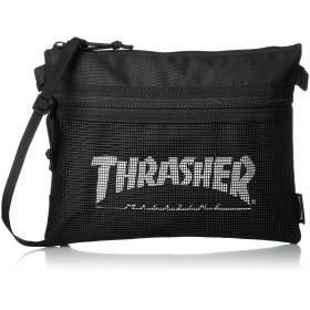 [スラッシャー] スラッシャー/THRASHER ポーチ 人気 おしゃれ サコッシュ ブラック/ホワイト