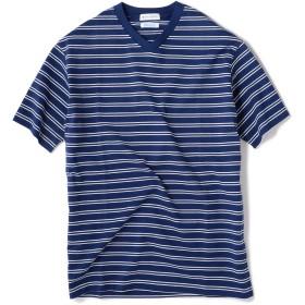 [シップスジェットブルー] Tシャツ 半袖 ボーダー Vネック メンズ 122100155 ネイビー2 日本 S-(日本サイズS相当)