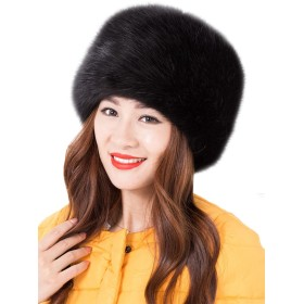 Tortor 1bacha(JP) 男女兼用 ロシア帽 レディース ロシアハット メンズ帽子 ロシアン帽 フェイクフォックスファーハット 13色 秋冬 ふわふわ 暖かい 防寒 無地 黒 赤 白色 (BK)