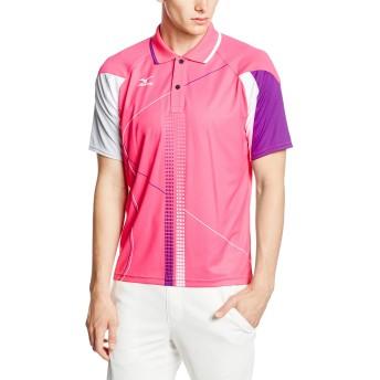 (ミズノ)MIZUNO テニスウェア ゲームシャツ [UNISEX] 62MA5016 64 マゼンタ×パープル×グレ L