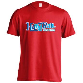 (プロテッジ) PROTEGGi カートゥーンタイトル風ファンキー Handball 半袖プレミアムドライTシャツ レッド L