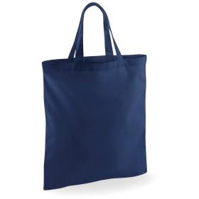 (ウエストフォード・ミル) Westford Mill ショートハンドル ショッピングバッグ エコバッグ ショッパー お買い物かばん トートバッグ (ワンサイズ) (ネイビー)